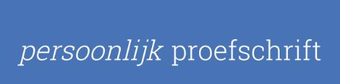 Logo Persoonlijk Proefschrift