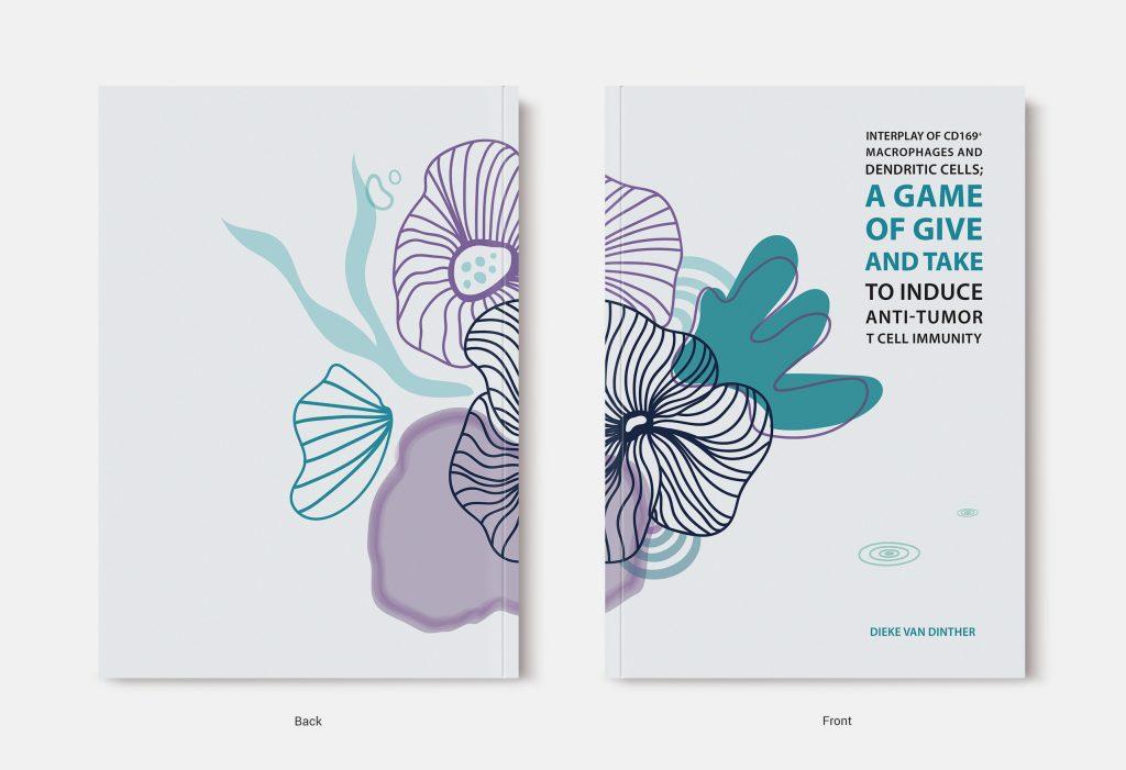 Proefschrift omslag voorbeeld ontworpen door Daniëlle Balk