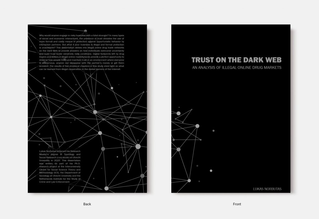 Proefschrift omslag voorbeeld ontworpen door Marilou Maes