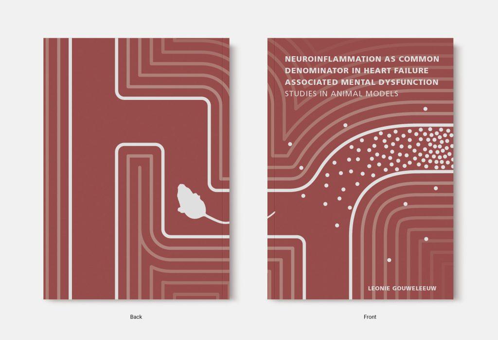Proefschrift omslag voorbeeld ontworpen door Jules Verkade