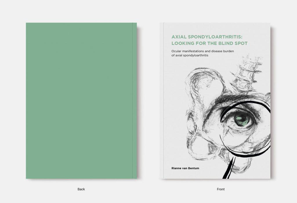 Proefschrift omslag voorbeeld ontworpen door Dagmar van Schaik