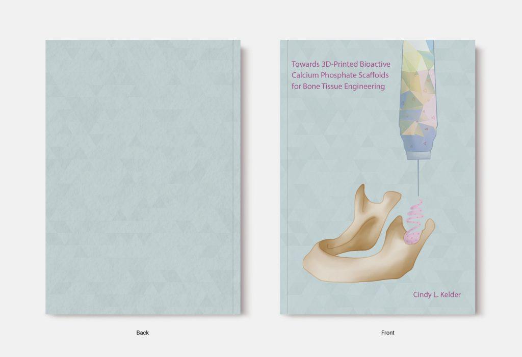 Proefschrift omslag voorbeeld ontworpen door Yasmin Katlich